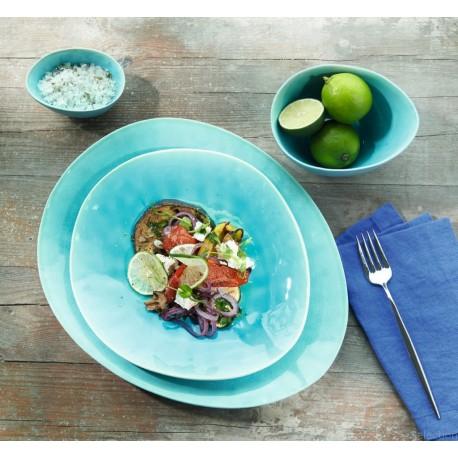 A LA PLAGE assiette Turquoise