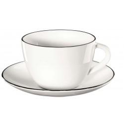 tasse à café ou thé LIGNE NOIRE
